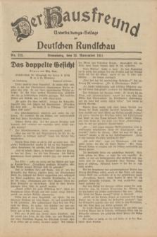 Der Hausfreund : Unterhaltungs-Beilage zur Deutschen Rundschau. 1931, Nr. 273 (26 November)
