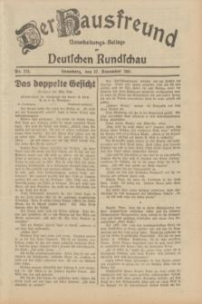 Der Hausfreund : Unterhaltungs-Beilage zur Deutschen Rundschau. 1931, Nr. 274 (27 November)