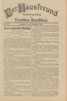 Der Hausfreund : Unterhaltungs-Beilage zur Deutschen Rundschau. 1931, Nr. 275 (28 November)