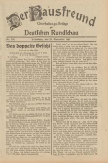 Der Hausfreund : Unterhaltungs-Beilage zur Deutschen Rundschau. 1931, Nr. 276 (29 November)
