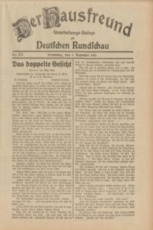 Der Hausfreund : Unterhaltungs-Beilage zur Deutschen Rundschau. 1931, Nr. 277 (1 Dezember)
