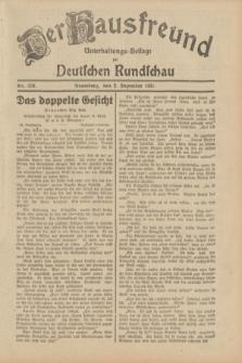 Der Hausfreund : Unterhaltungs-Beilage zur Deutschen Rundschau. 1931, Nr. 278 (2 Dezember)