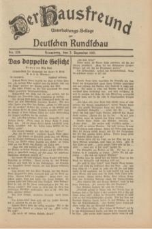 Der Hausfreund : Unterhaltungs-Beilage zur Deutschen Rundschau. 1931, Nr. 279 (3 Dezember)