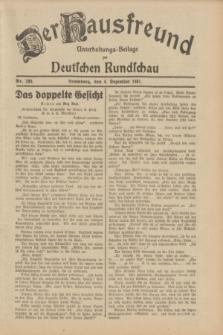 Der Hausfreund : Unterhaltungs-Beilage zur Deutschen Rundschau. 1931, Nr. 280 (4 Dezember)