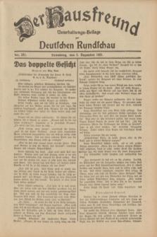 Der Hausfreund : Unterhaltungs-Beilage zur Deutschen Rundschau. 1931, Nr. 281 (5 Dezember)