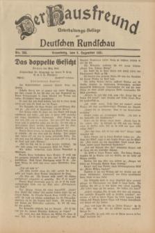 Der Hausfreund : Unterhaltungs-Beilage zur Deutschen Rundschau. 1931, Nr. 283 (8 Dezember)