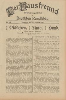 Der Hausfreund : Unterhaltungs-Beilage zur Deutschen Rundschau. 1931, Nr. 284 (10 Dezember)