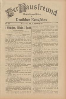 Der Hausfreund : Unterhaltungs-Beilage zur Deutschen Rundschau. 1931, Nr. 285 (11 Dezember)