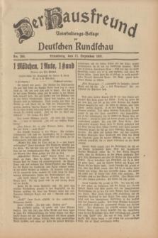 Der Hausfreund : Unterhaltungs-Beilage zur Deutschen Rundschau. 1931, Nr. 286 (12 Dezember)