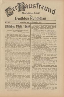 Der Hausfreund : Unterhaltungs-Beilage zur Deutschen Rundschau. 1931, Nr. 288 (15 Dezember)