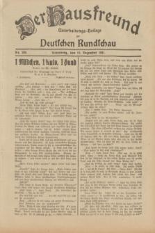 Der Hausfreund : Unterhaltungs-Beilage zur Deutschen Rundschau. 1931, Nr. 289 (16 Dezember)