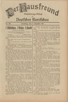 Der Hausfreund : Unterhaltungs-Beilage zur Deutschen Rundschau. 1931, Nr. 290 (17 Dezember)