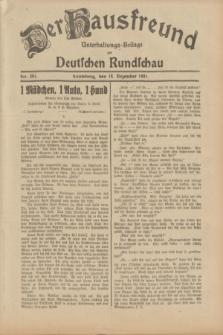 Der Hausfreund : Unterhaltungs-Beilage zur Deutschen Rundschau. 1931, Nr. 291 (18 Dezember)