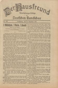 Der Hausfreund : Unterhaltungs-Beilage zur Deutschen Rundschau. 1931, Nr. 293 (20 Dezember)