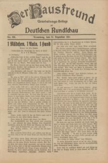 Der Hausfreund : Unterhaltungs-Beilage zur Deutschen Rundschau. 1931, Nr. 294 (22 Dezember)