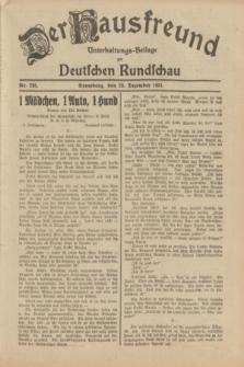 Der Hausfreund : Unterhaltungs-Beilage zur Deutschen Rundschau. 1931, Nr. 295 (23 Dezember)
