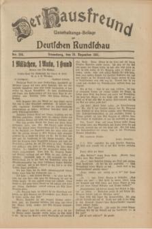 Der Hausfreund : Unterhaltungs-Beilage zur Deutschen Rundschau. 1931, Nr. 296 (24 Dezember)