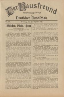 Der Hausfreund : Unterhaltungs-Beilage zur Deutschen Rundschau. 1931, Nr. 298 (29 Dezember)