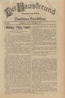 Der Hausfreund : Unterhaltungs-Beilage zur Deutschen Rundschau. 1931, Nr. 299 (30 Dezember)