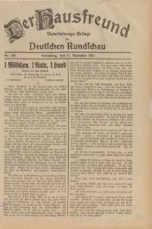 Der Hausfreund : Unterhaltungs-Beilage zur Deutschen Rundschau. 1931, Nr. 300 (31 Dezember)