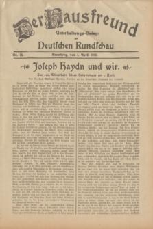 Der Hausfreund : Unterhaltungs-Beilage zur Deutschen Rundschau. 1932, Nr. 74 (1 April)