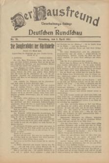 Der Hausfreund : Unterhaltungs-Beilage zur Deutschen Rundschau. 1932, Nr. 75 (2 April)