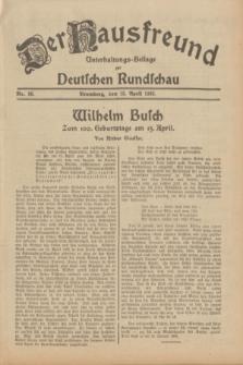 Der Hausfreund : Unterhaltungs-Beilage zur Deutschen Rundschau. 1932, Nr. 86 (15 April)