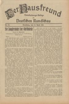 Der Hausfreund : Unterhaltungs-Beilage zur Deutschen Rundschau. 1932, Nr. 87 (16 April)