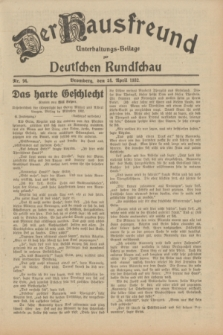 Der Hausfreund : Unterhaltungs-Beilage zur Deutschen Rundschau. 1932, Nr. 94 (24 April)