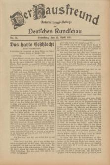 Der Hausfreund : Unterhaltungs-Beilage zur Deutschen Rundschau. 1932, Nr. 95 (26 April)