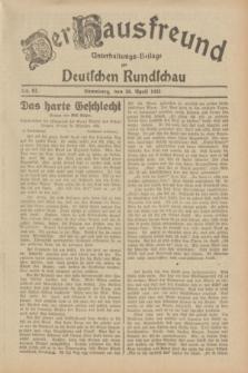 Der Hausfreund : Unterhaltungs-Beilage zur Deutschen Rundschau. 1932, Nr. 97 (28 April)