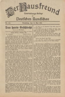 Der Hausfreund : Unterhaltungs-Beilage zur Deutschen Rundschau. 1932, Nr. 111 (18 Mai)