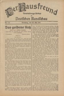 Der Hausfreund : Unterhaltungs-Beilage zur Deutschen Rundschau. 1932, Nr. 119 (28 Mai)
