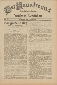 Der Hausfreund : Unterhaltungs-Beilage zur Deutschen Rundschau. 1932, Nr. 124 (3 Juni)