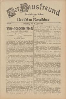 Der Hausfreund : Unterhaltungs-Beilage zur Deutschen Rundschau. 1932, Nr. 131 (11 Juni)