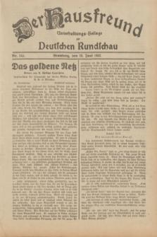 Der Hausfreund : Unterhaltungs-Beilage zur Deutschen Rundschau. 1932, Nr. 142 (24 Juni)