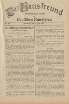 Der Hausfreund : Unterhaltungs-Beilage zur Deutschen Rundschau. 1932, Nr. 148 (2 Juli)