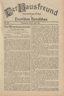 Der Hausfreund : Unterhaltungs-Beilage zur Deutschen Rundschau. 1932, Nr. 153 (8 Juli)