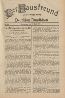 Der Hausfreund : Unterhaltungs-Beilage zur Deutschen Rundschau. 1932, Nr. 155 (10 Juli)