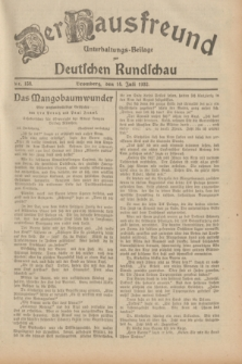 Der Hausfreund : Unterhaltungs-Beilage zur Deutschen Rundschau. 1932, Nr. 158 (14 Juli)