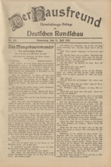 Der Hausfreund : Unterhaltungs-Beilage zur Deutschen Rundschau. 1932, Nr. 159 (15 Juli)