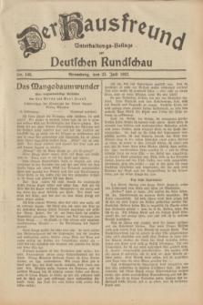 Der Hausfreund : Unterhaltungs-Beilage zur Deutschen Rundschau. 1932, Nr. 166 (23 Juli)