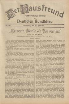 Der Hausfreund : Unterhaltungs-Beilage zur Deutschen Rundschau. 1932, Nr. 168 (26 Juli)