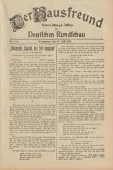Der Hausfreund : Unterhaltungs-Beilage zur Deutschen Rundschau. 1932, Nr. 170 (28 Juli)