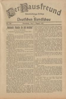 Der Hausfreund : Unterhaltungs-Beilage zur Deutschen Rundschau. 1932, Nr. 180 (9 August)