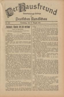 Der Hausfreund : Unterhaltungs-Beilage zur Deutschen Rundschau. 1932, Nr. 183 (12 August)