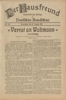 Der Hausfreund : Unterhaltungs-Beilage zur Deutschen Rundschau. 1932, Nr. 189 (20 August)