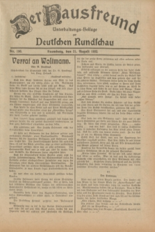 Der Hausfreund : Unterhaltungs-Beilage zur Deutschen Rundschau. 1932, Nr. 190 (21 August)