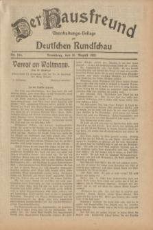 Der Hausfreund : Unterhaltungs-Beilage zur Deutschen Rundschau. 1932, Nr. 194 (26 August)