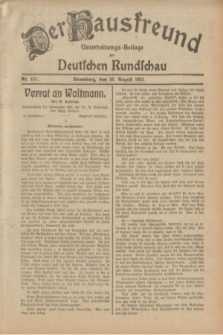 Der Hausfreund : Unterhaltungs-Beilage zur Deutschen Rundschau. 1932, Nr. 197 (30 August)